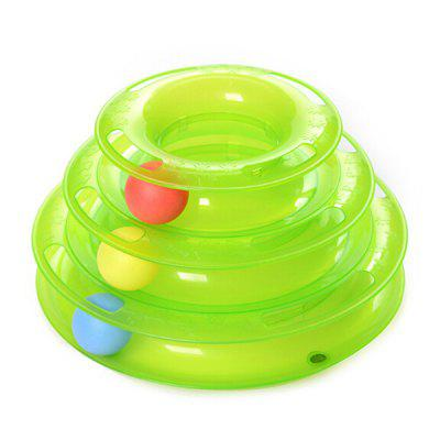 Cat Turntable Toys Three-layer Track Interactive Cat Toys Pet Supplies