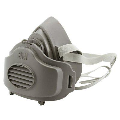 3M 3200 Masks 3701CN Filter Cotton Half Face Industrial Dust-proof Mask - Gray