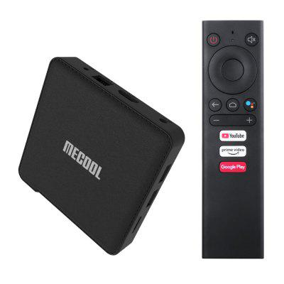 MECOOL KM1 CLASSIC ATV Google Certified Smart Voice Remote TV Box With Amlogic S905X3 2GB RAM + 16GB ROM 2.4GHz + 5GHz Dual-band WiFi 100Mbps USB3.0 BT4.2 H.264 H.265 HDR10 Support Google Assistant - Black 2GB RAM+16GB ROM EU plug