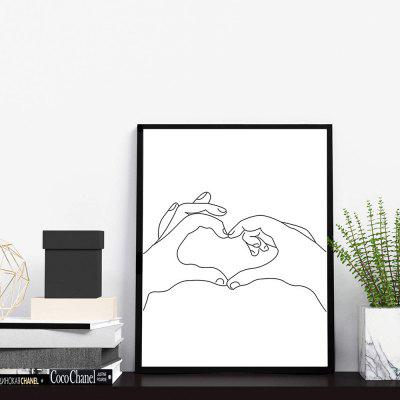 Minimalistic Love Abstract Home Decoration Painting Modern Art Bedroom Office Paint (without Frame)