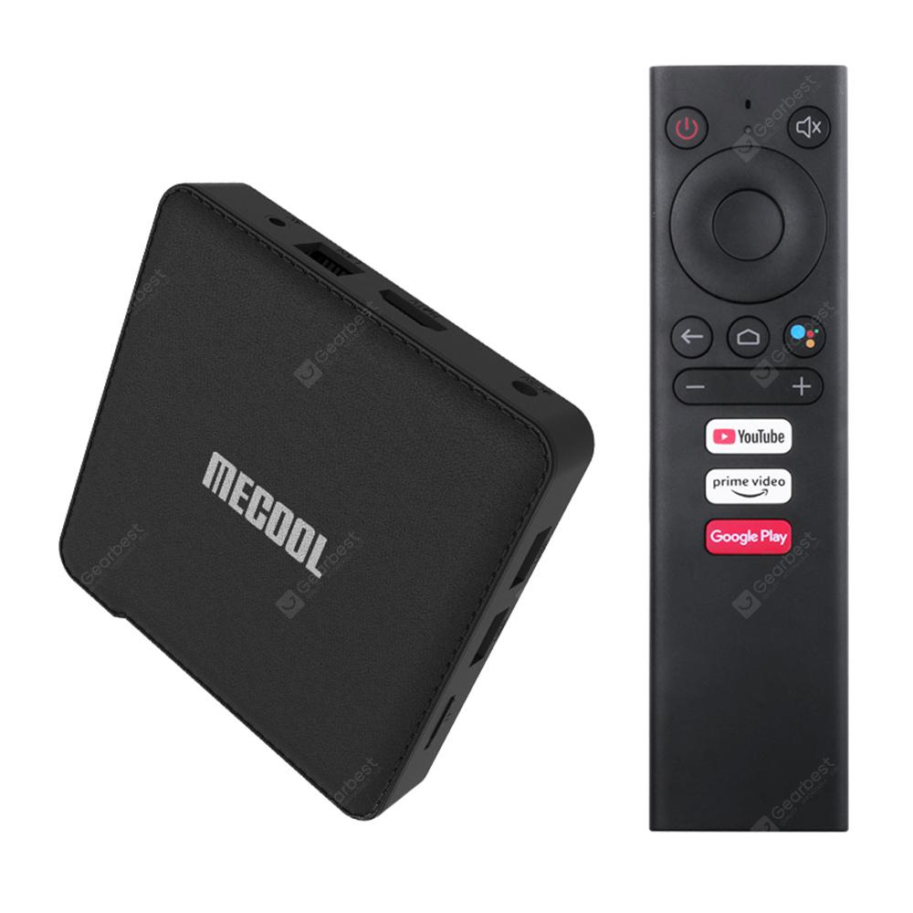 MECOOL KM1 CLASSIC ATV Google Certified Smart Voice Remote TV Box With Amlogic S905X3 2GB RAM + 16GB ROM 2.4GHz + 5GHz Dual-band WiFi 100Mbps USB3.0 BT4.2 H.264 H.265 HDR10 Support Google Assistant