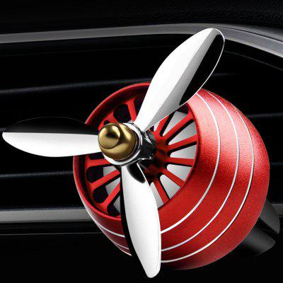 Propeller Shaped Car Aromatherapie Diffuser Air Outlet Perfume Clip Creative zinklegering Rotating Sfeer Lamp