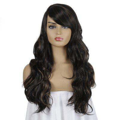 SYJF 097 Long Curly Wig High Temperature Fiber Hair Wig with Bangs European and American Style