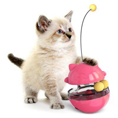 Cat Tumbler Turntable Toy Missing Food Ball Funny Cats Stick Toys Pet Training Tool