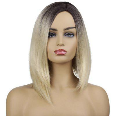 SYJF 098 Short Straight Hair Color Gradient Synthetic Wig