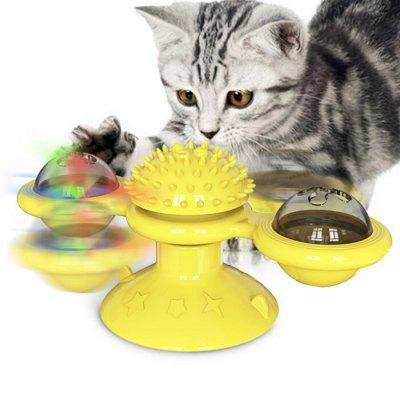 Pet Supplies Turn Around Cat Toy molino de viento de la placa giratoria Tease Rascarse Picazón Gatos Cepillo
