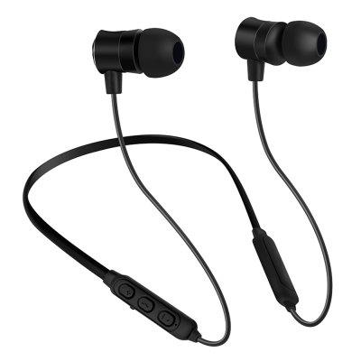 ZXQ Q1 Neck Hanging Bluetooth Earphone Subwoofer Metal Headphones Waterproof Sports In-ear Headset