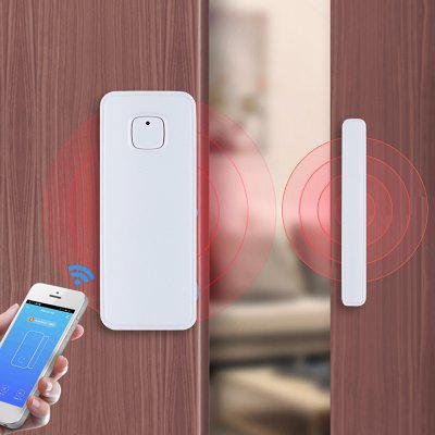 MoesHouse WF-WD002 WiFi Intelligente Porta Finestra Sensore APP di Notifica/Allarme Rivelatore di Sicurezza Compatibile con Amazon Alexa Google Home