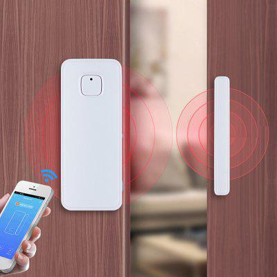 MoesHouse WF-WD001 Smart WiFi Porta Sensore Finestra Wireless Home Detector Allarme di Sicurezza Tuya APP Funziona con Amazon Alexa Google Home