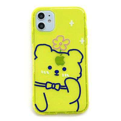 APK72 Cute Bear patroon silicone anti-fall Phone Case voor iPhone 7/8 / 11 / X / XR / XS / XS Max