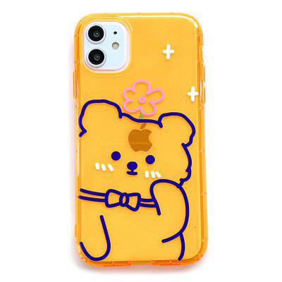 APK72 Cute Bear Pattern Silicone Anti-fall Phone Case for iPhone 7 / 8 / 11 / X / XR / XS / XS Max