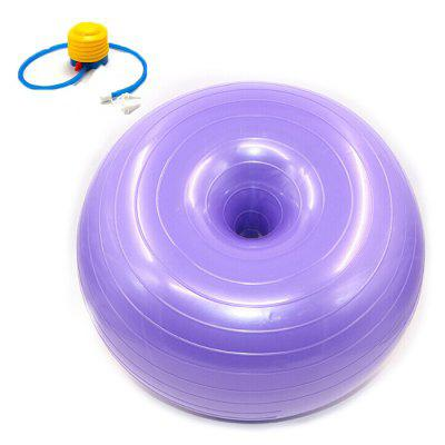50cm Donut Ball Yoga Exercise Workout Core Training Swiss Stability Ball for Yoga Pilates and Balance Training in Gym Office