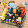 Engineering Adventure Car Challenge Board Game Children Educational Track Mixer Toy Kit - MULTI