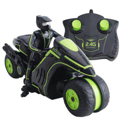 2.4G Remote Control Motorcycle Side Drift Spinning Stunt Car Toy