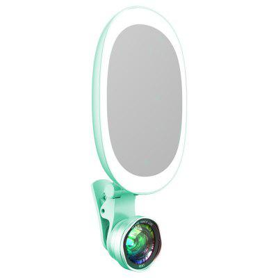 Brelong Supplementary Light Phone Camera External Beauty Light Wide-angle Macro Live Pictures Makeup Mirror