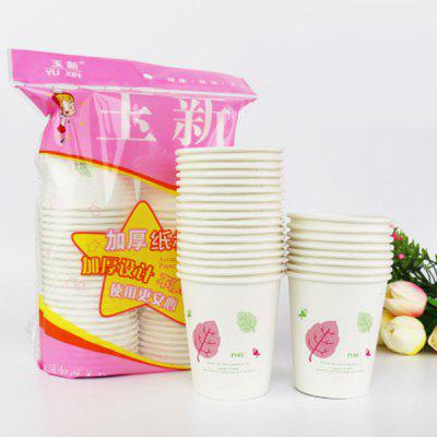 Printing Thickened Disposable Paper Cup Leakproof Environmental Protection for Home Office Business 50pcs