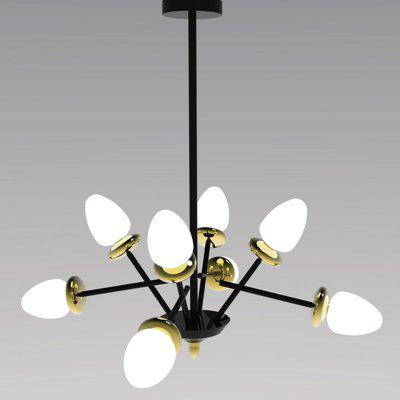 Zuoge Nordic Creative Tulip Shape 8-Head Lustr Light 220V s LED žárovka