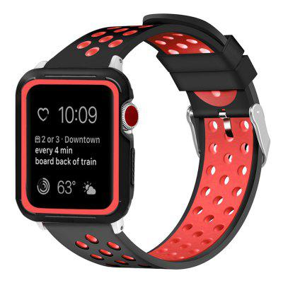 Duurzaam Soft siliconen band Multicolor Watch Band voor iWatch