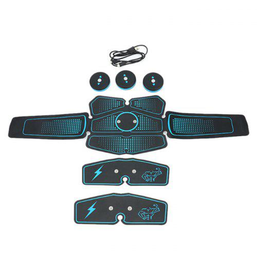 EMS Rechargeable Wireless Electric Muscle Stimulator Trainer Smart Fitness Abdominal Training Equipment