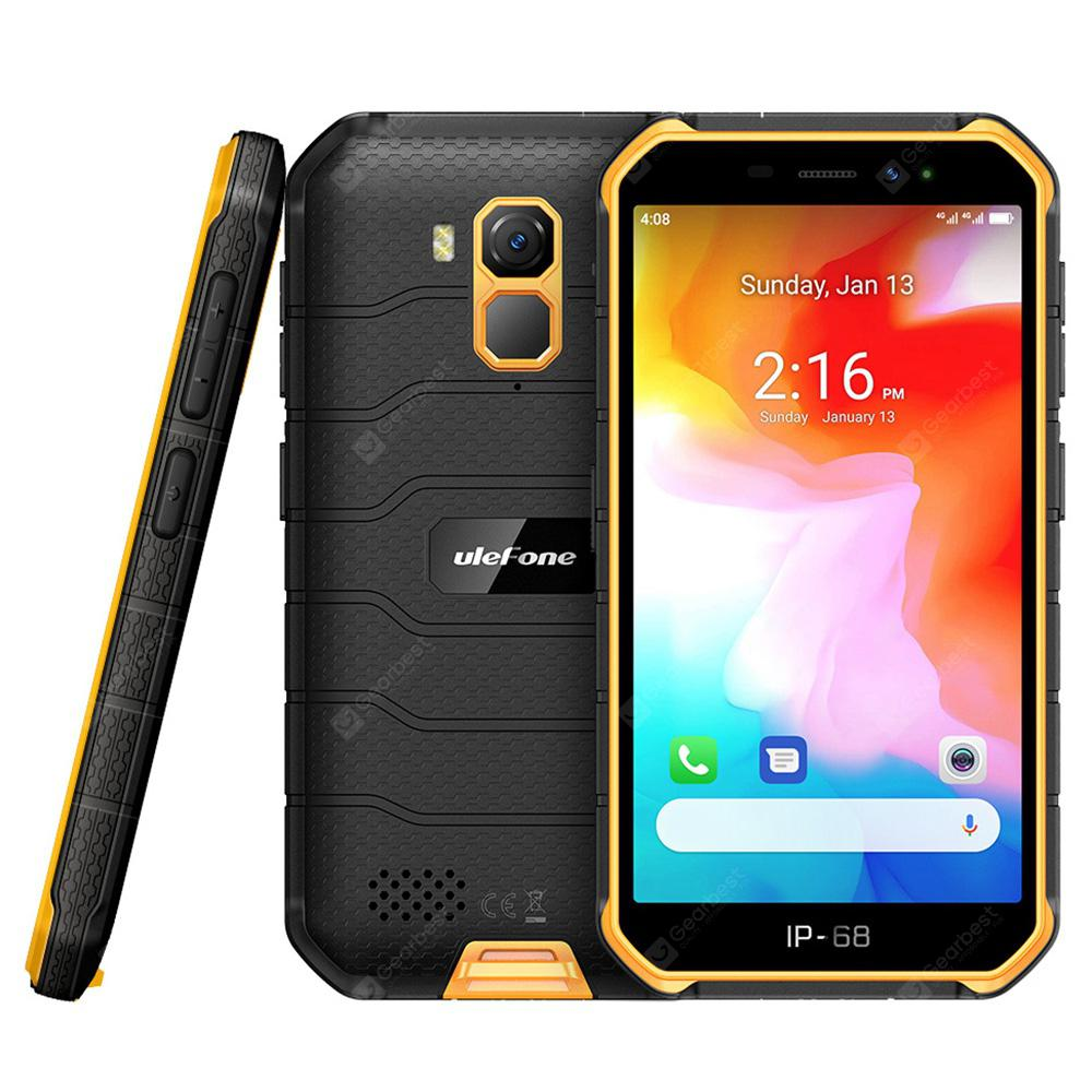 Ulefone Armor X7 4G Smartphone 5 inch Android 10.0 Helio A20 MT6761VWE 2GB RAM 16GB ROM 2 Rear Camera 4000mAh Battery IP68 IP69K Waterproof Global Version