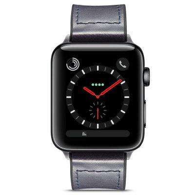 Odolný Crazy Horse Veneer Silicone Inteligentní Leather Watch kapela pro Apple Watch