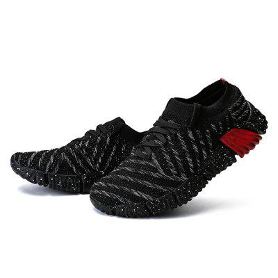 AILADUN Men's Shoes Breathable Lightweight Running Woven Large Size Shoes
