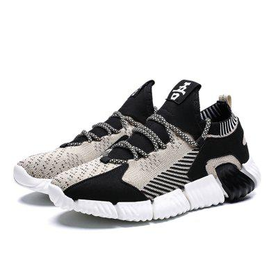 AILADUN Men's Shoes Summer Breathable Soft-soled Sports Woven Casual Shoes