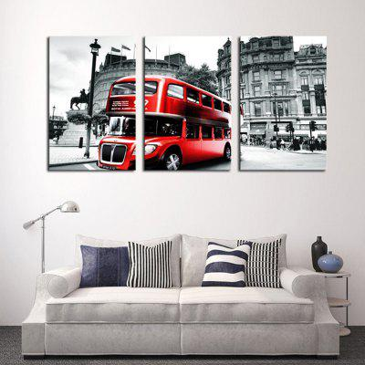 Bus Landscape Home Decorative Canvas Wall Painting (Painting Core)