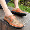 AILADUN Summer Outdoor Leisure Breathable Mesh Hand Sewn Shoes - BROWN