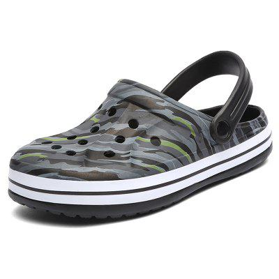 AILADUN Summer Camouflage Beach Sandals Male Leisure Shoes Nest Hole Slippers