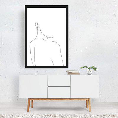 Woman Beauty Body Lines Abstract Poster Home Decorative Painting Living Room Bedroom Print Picture (without Frame)