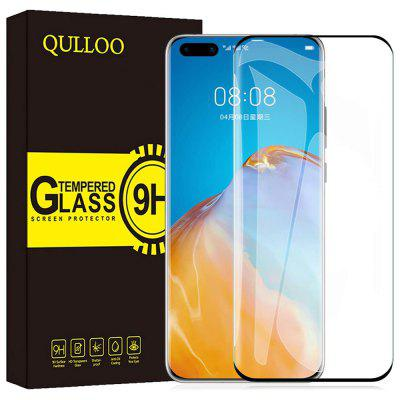 Qulloo 2.5D Full Coverage Screen Protector Tempered Glass Film for Huawei P40 Pro