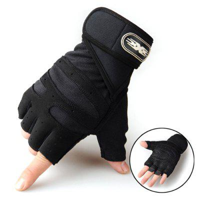 Vzpírání Half Finger Rukavice Fitness Sport Men koni rukavice