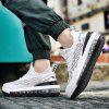 AILADUN Men's Running Shoes Air Cushion Shock Absorbing Plus Size Sneakers - WHITE