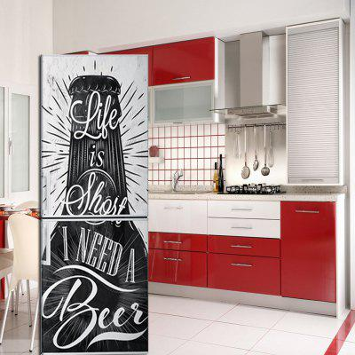 3D Beer Pattern Fridge Magnet Home DIY Personalized Decoration Decorative Sticker Self-adhesive