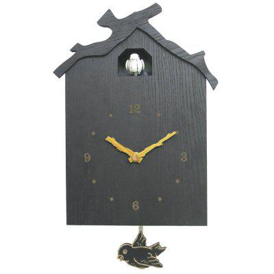 Creative Wooden House Cuckoo Clock Creative Wall Clocks