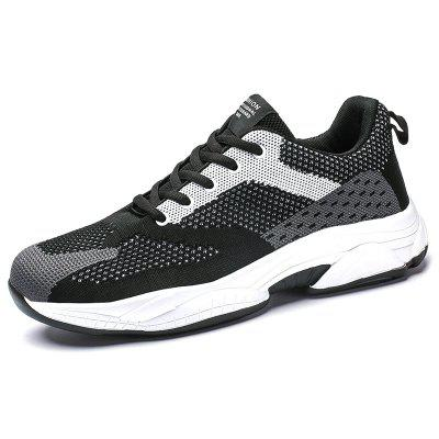 AILADUN Men Flying Woven Breathable Casual Sports Shoes