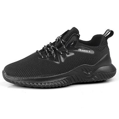 AILADUN Men Casual Breathable Shoes Spring Summer Flying Woven Sports Footwear