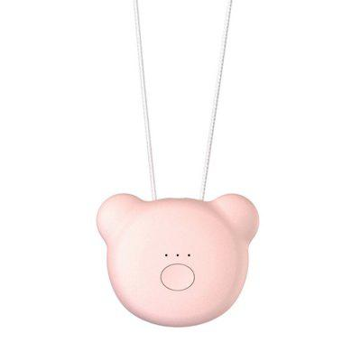 Cute Bear Shape Wearable Air Purifier Necklace Mini Portable Air Freshener Negative Ion Air Cleaner Portable PM2.5 Purification for Children Girls