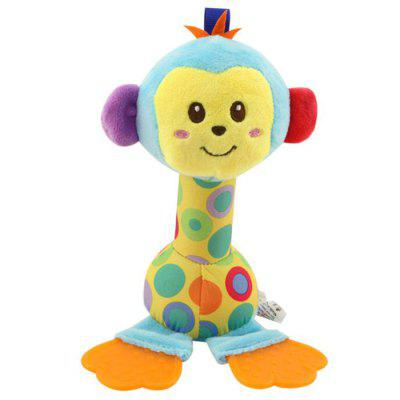 Plush Baby Teether Rattle Doll Bed Trailer Hanging Educational Toy