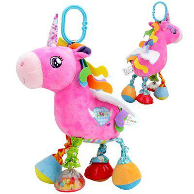 Newborn Baby Stroller Hanging Rattle Multicolour Soft Plush Cartoon Animal Doll Infant Bed Bell Cute Sound Stuffed Toys Unicorn