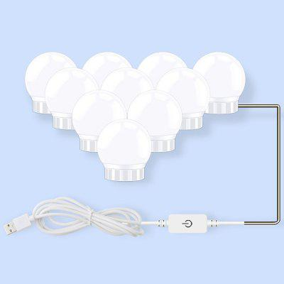 BRELONG Wall Makeup Cosmetic USB 10 Bulb LED Mirror Lamp Dresser Stepless Dimming