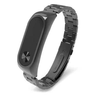 Drie-Bead Strap Metal Solid Stainless Steel Armband Unisex Stainless Steel horloge Band Xiaomi Mi Band 2