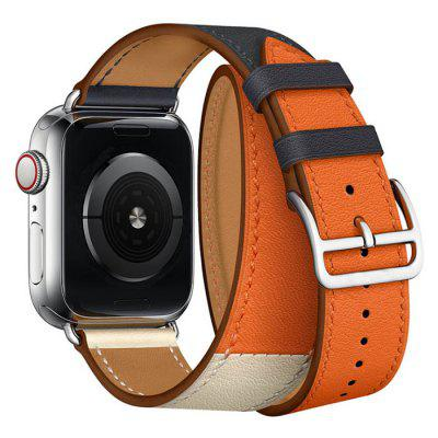 Moda Leather Wrist Watch Strap z podwójnym pierścieniem Watch Band dla Apple Watch