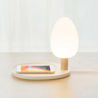 Brelong Mobile Phone Wireless Charging Table Lamp Bedroom Bedside Touch Night Light Christmas Gift