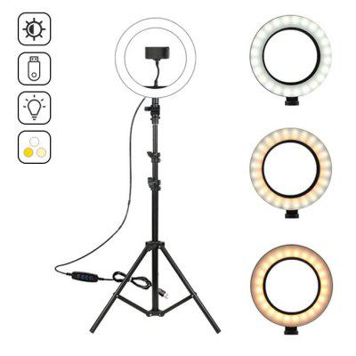 Brelong LED Ring Fill Light 3-color with Tripod