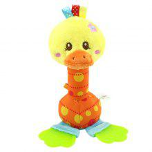 Plysj Baby Teether Rattle Doll Bed Trailer Hanging Educational Toy