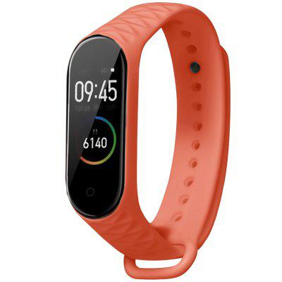 TAMISTER Diamond Pattern Strap Soft Silicone Solid Color Sports Style Watch Band for Xiaomi Mi Band 3 / 4 Smart Wristband