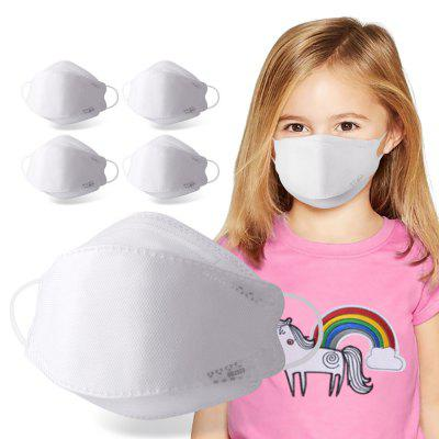 Disposable Kids Mask 4 Layer Dustproof Anti-fog Children Masks 5PCS