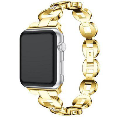 Unisex Watchband Big Ring Round Alloy Diamond Strap for Apple Watch